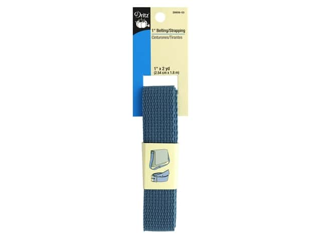 Dritz Polypropylene Belting/Strapping 1 in. x 2 yd. Steel Blue