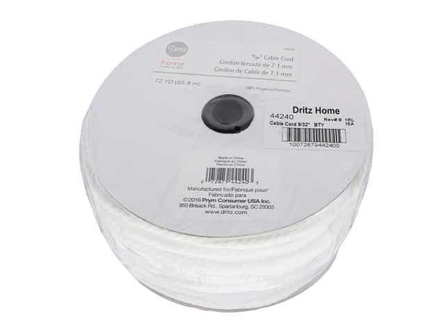 Dritz Home Cable Cord 9/32 in. x 72 yd. White