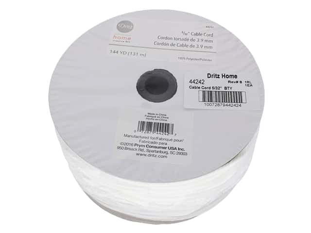 Dritz Home Cable Cord 5/32 in. x 144 yd. White