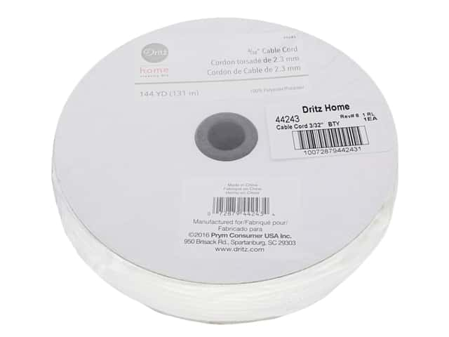 Dritz Home Cable Cord 3/32 in. x 144 yd. White