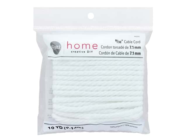 Dritz Home Cable Cord 9/32 in. x 10 yd. White