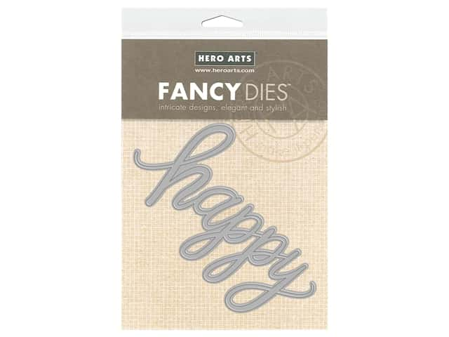Hero Arts Die Fancy Happy Message