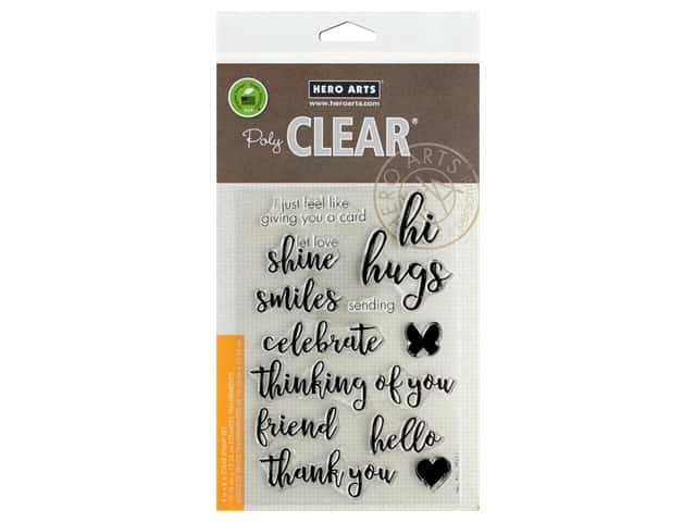 Hero Arts Poly Clear Stamp Everyday Messages