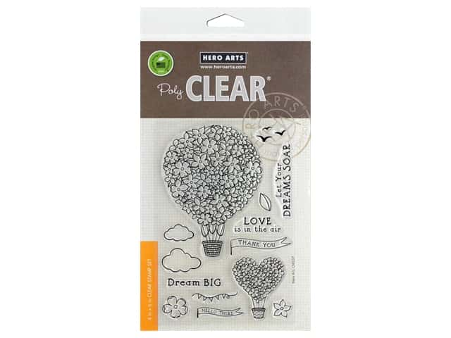 Hero Arts Poly Clear Stamp Air Blooms