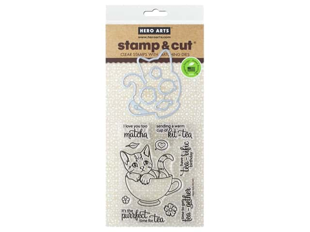 Hero Arts Stamp & Cuts Kit Tea