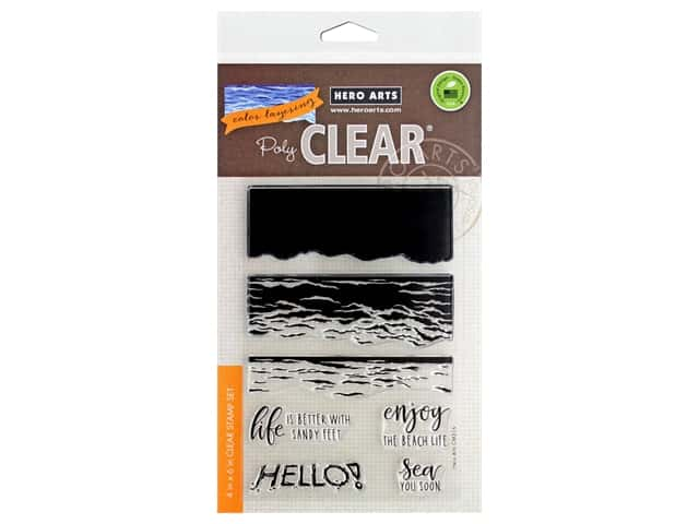 Hero Arts Poly Clear Stamp Color Layering Waves