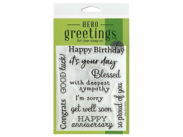 Hero Arts Poly Clear Stamp Greetings Occasions