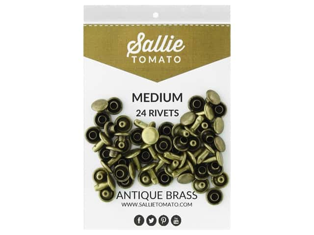 Sallie Tomato Double Cap Rivets 8 mm 24 pc Antique