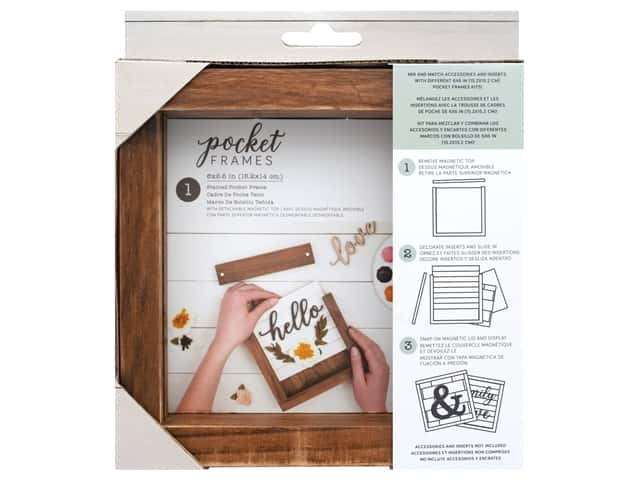 American Crafts Details 2 Enjoy Pocket Frames 6 in. x 5.5 in. Stained