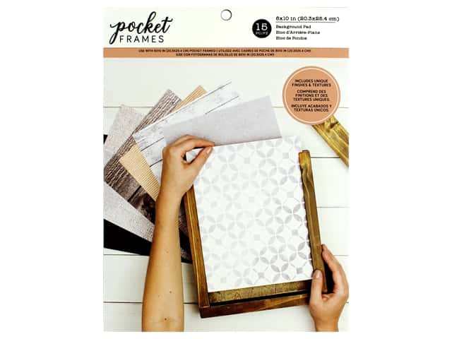 American Crafts Pocket Frames 8 x 10 in. Background Pad