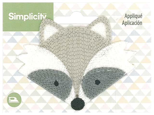 Simplicity Applique Iron On Raccoon