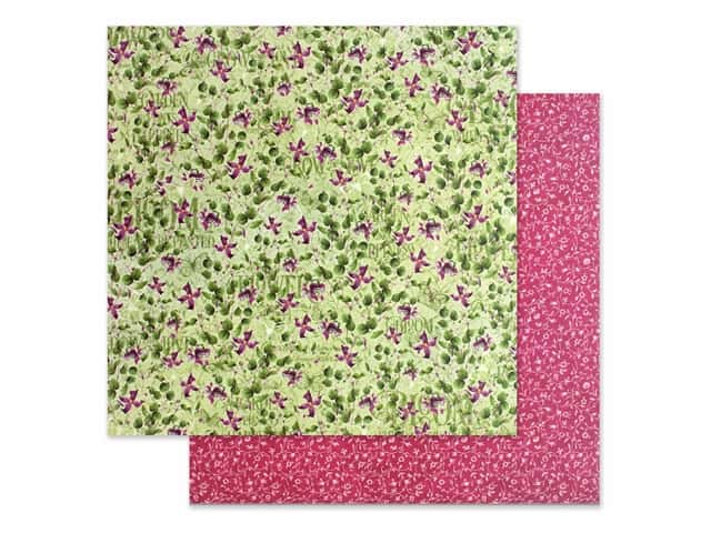 Graphic 45 Collection Bloom Paper 12 in. x 12 in. Dainty Blossoms