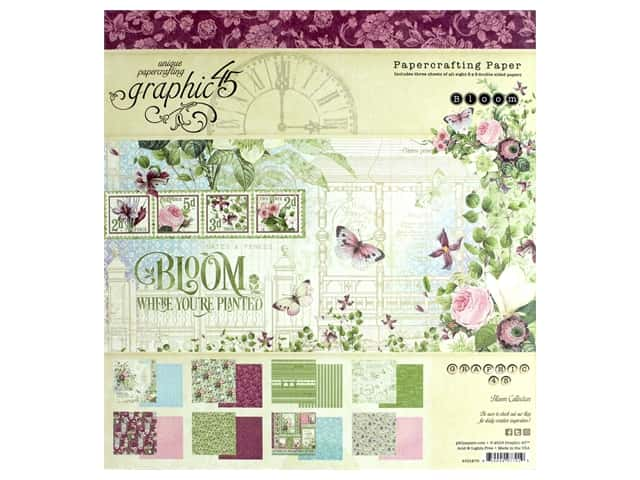 Graphic 45 Collection Bloom Paper Pad 8 in. x 8 in.