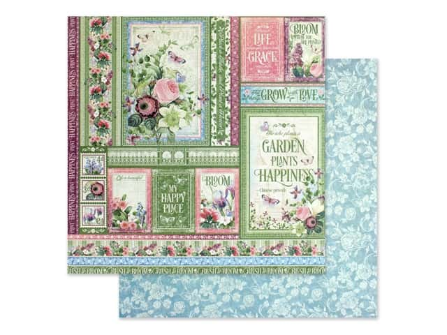 Graphic 45 Collection Bloom Paper 12 in. x 12 in. Grow With Love