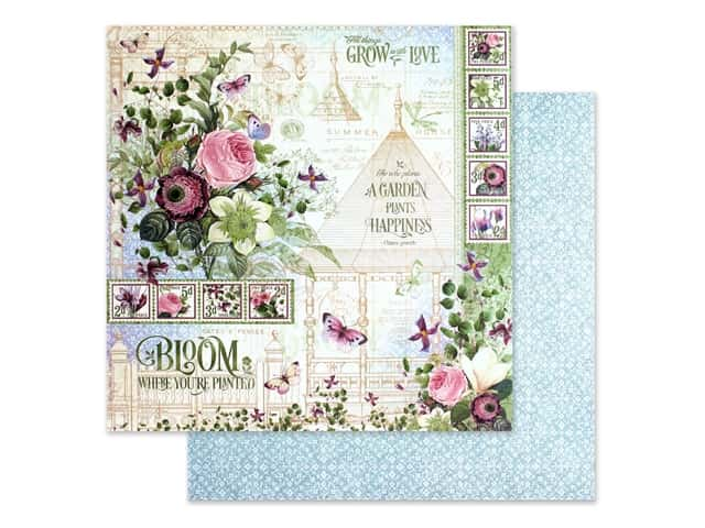 Graphic 45 Collection Bloom Paper 12 in. x 12 in.