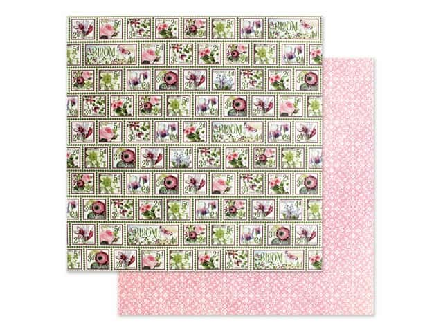 Graphic 45 Collection Bloom Paper 12 in. x 12 in. Petal Postage