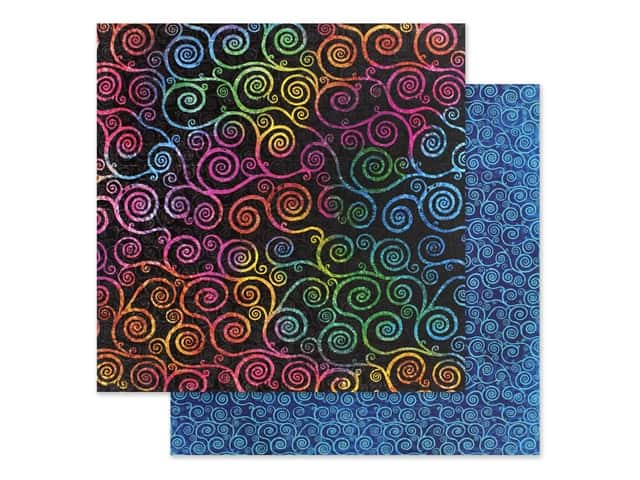 Graphic 45 Collection Kaleidoscope Paper 12 in. x 12 in. Boldly Brilliant