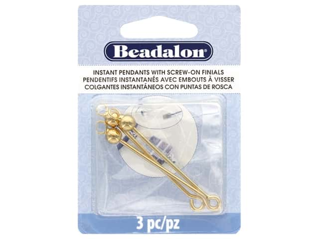 Beadalon Findings Instant Pendant Round 36.6 mmx 1.6 mm Gold