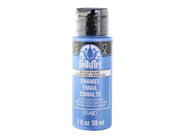 Plaid FolkArt Enamels Paint 2 oz. Metallic Blue Cascade
