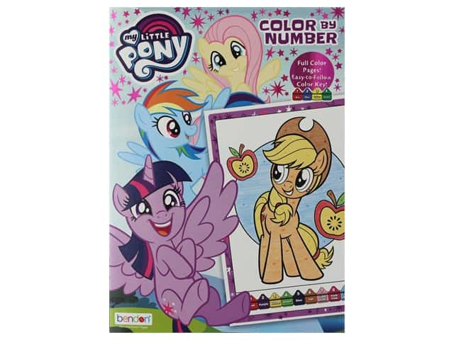 Bendon Color By Number Hasbro My Little Pony Book