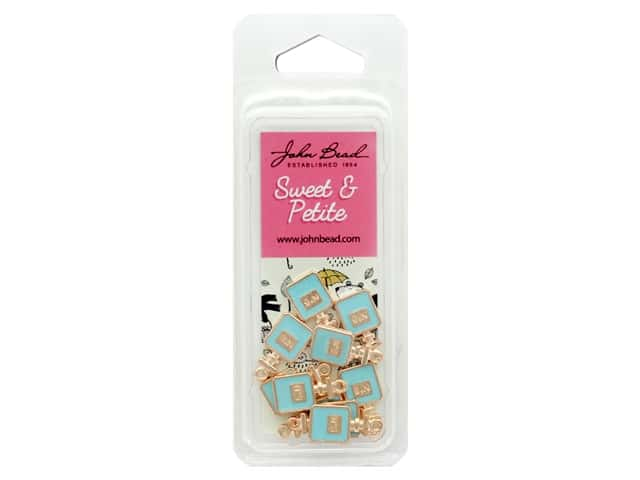 John Bead Sweet & Petite Charm Perfume Bottle Blue 10 pc