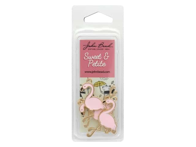 John Bead Sweet & Petite Charm Flamingo Light Pink 8 pc
