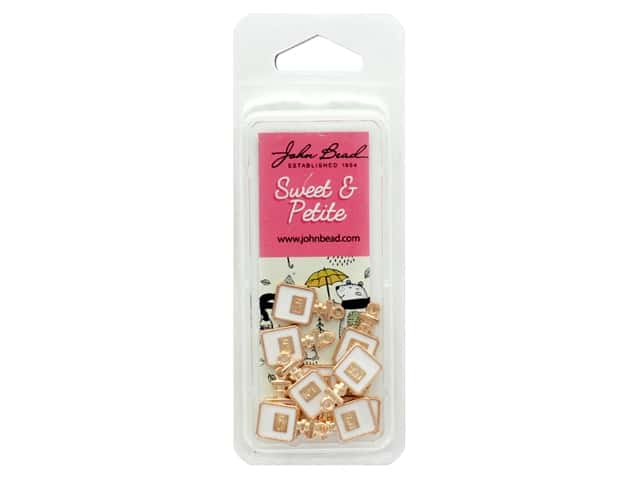 John Bead Sweet & Petite Charm Perfume Bottle White 10 pc