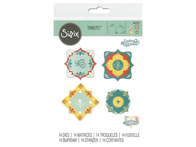 Sizzix Dies Courtney Chilson Thinlits Corners & Labels