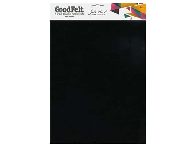 John Bead Good Felt Beading Foundation 1.5 mm 8.5 in. x 11 in. Black 4 pc