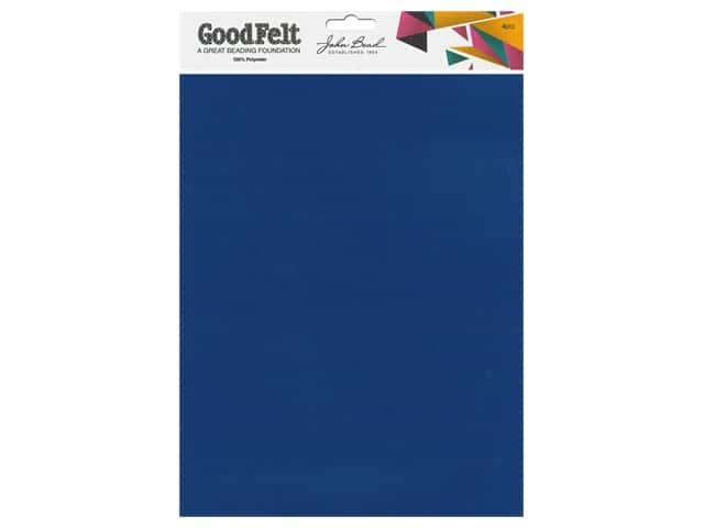 John Bead Good Felt Beading Foundation 1.5 mm 8.5 in. x 11 in. Blue 4 pc