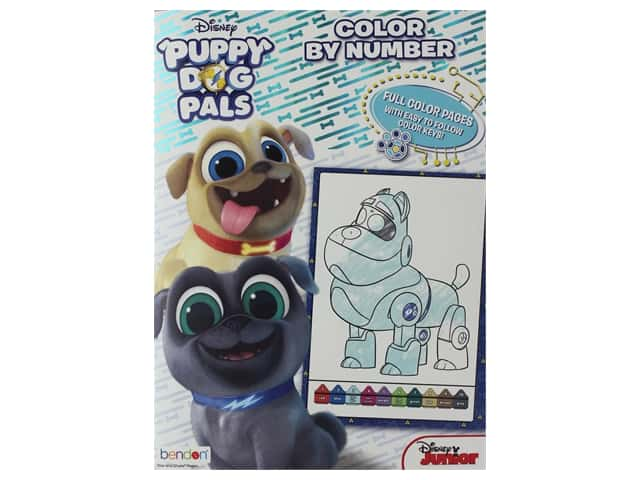 Bendon Color By Number Disney Puppy Dog Pals Book