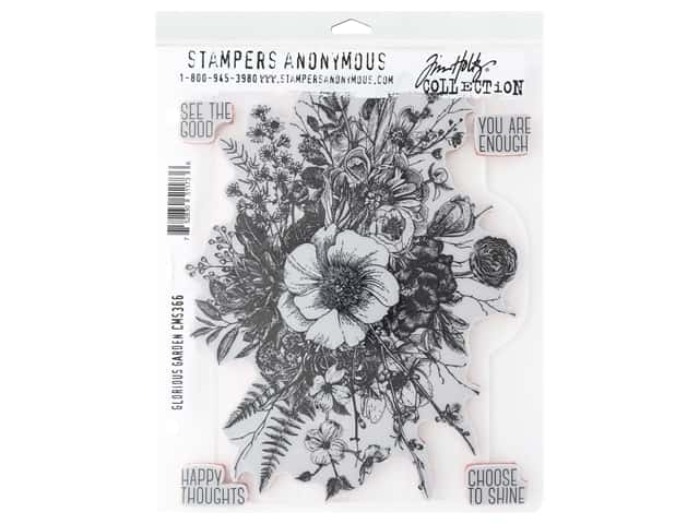 Stampers Anonymous Tim Holtz Cling Mount Stamp Set - Glorious Garden