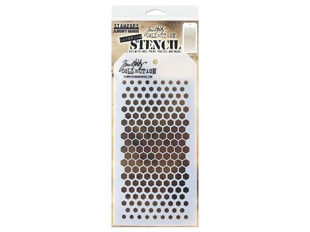 Stampers Anonymous Tim Holtz Layering Stencil - Gradient Hex