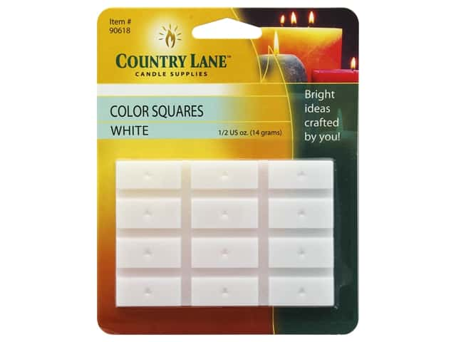 Country Lane Candle Dye Color Squares 1/2 oz White