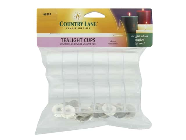 Country Lane Candle Making Kit Tealight Cups 12 pc