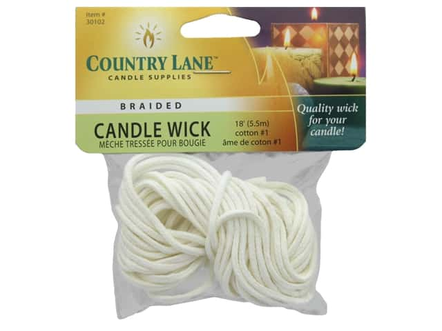 Country Lane Candle Wicks #1 Braided 18 ft.