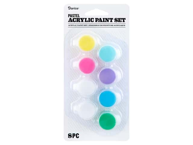 Darice Paint Pot Acrylic Pastel 8 pc