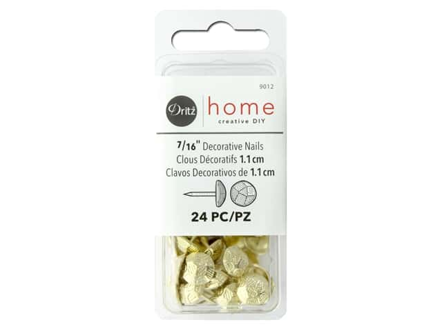 Dritz Decorative Nails 7/16 in. Round Hammered Gilt 24 pc.