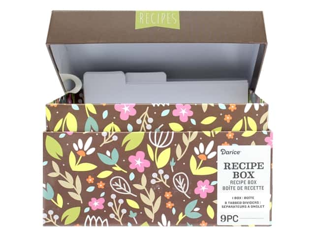 Darice Recipe Card Box Floral