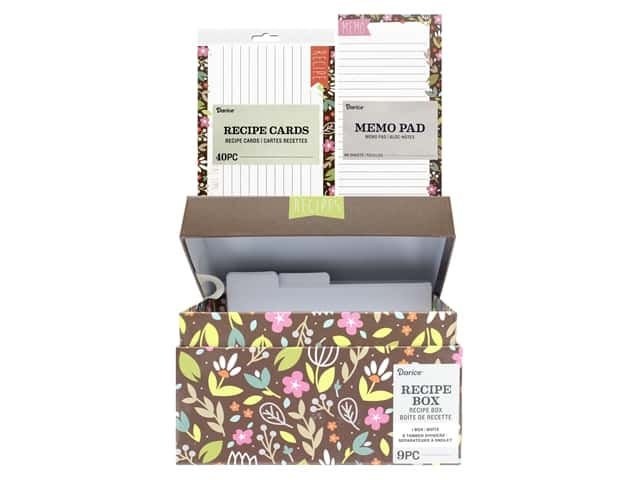Darice Recipe Box Set Floral
