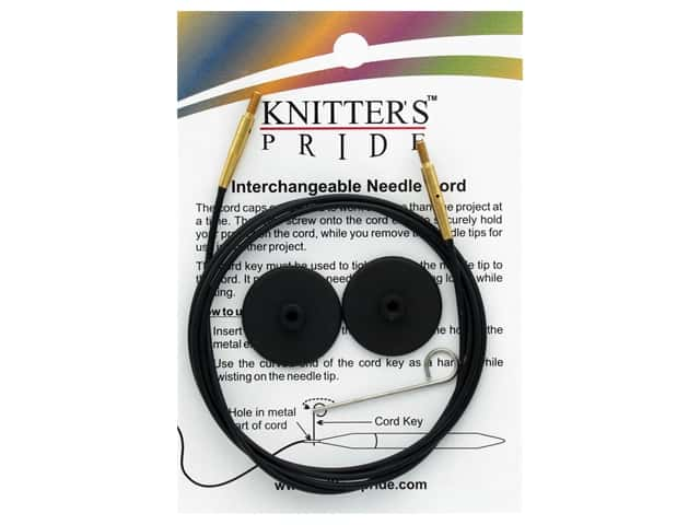 Knitter's Pride Interchangeable Needle Cord Black/Gold 40 in.