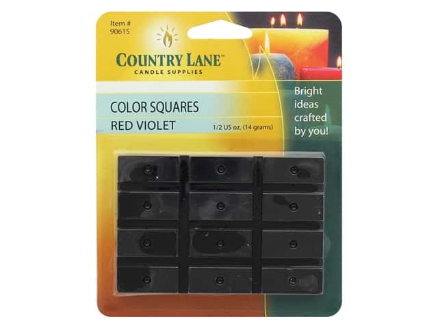 Country Lane Candle Dye Color Squares 1/2 oz Red Violet