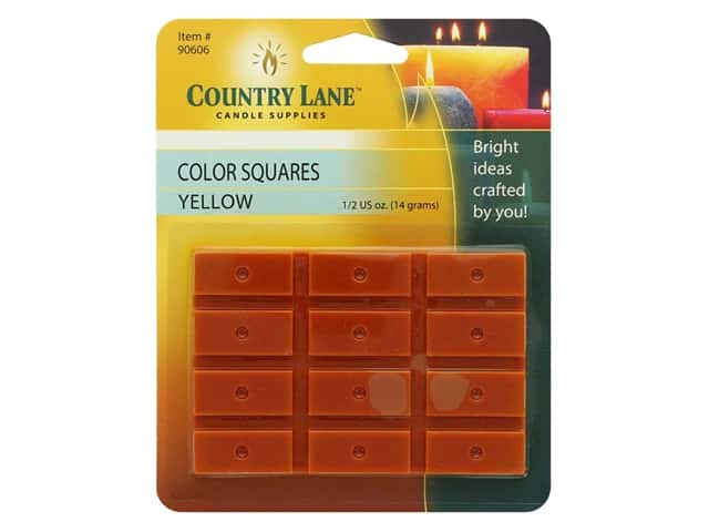 Country Lane Candle Dye Color Squares 1/2 oz Yellow