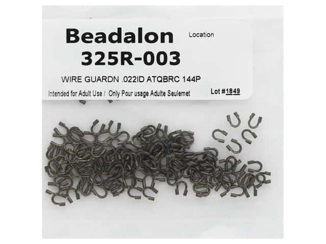 Beadalon Wire Guardian .022 in. Antique Brass 144 pc