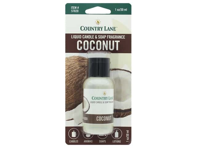 Country Lane Scent Liquid Candle & Soap Fragrance Coconut 1 oz
