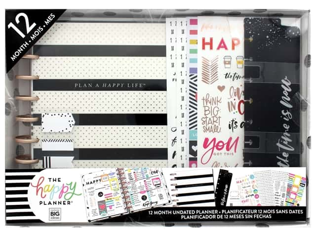 Me&My Big Ideas Create 365 The Happy Planner 12 Month Box Kit - Plan a Happy Life