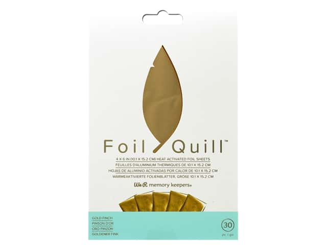 We R Memory Keepers Foil Quill 4 x 6 in. Foil Sheets 30 pc. Gold Finch