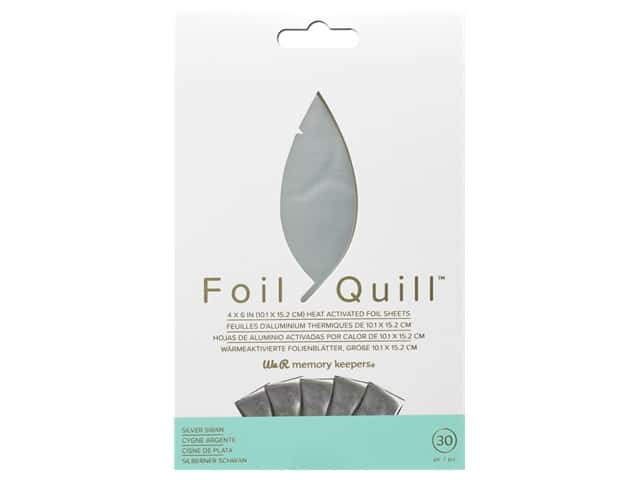 We R Memory Keepers Foil Quill 4 x 6 in. Foil Sheets 30 pc. Silver Swan
