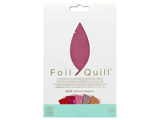 We R Memory Keepers Foil Quill 4 x 6 in. Foil Sheets 30 pc. Flamingo