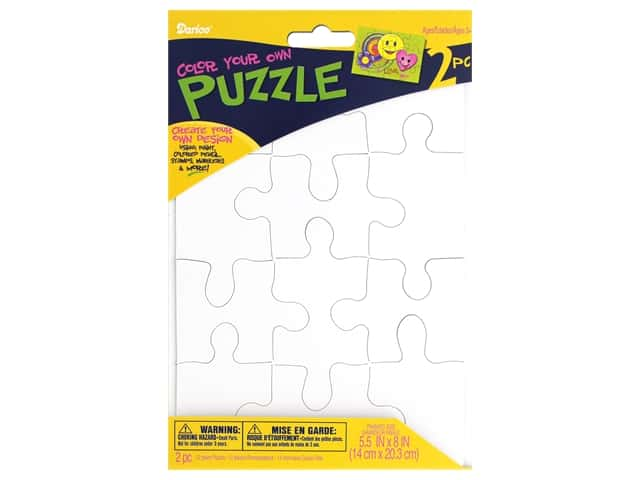 Darice Color In Puzzle 12 pc 5.5 in. x 8 in. 2 ct